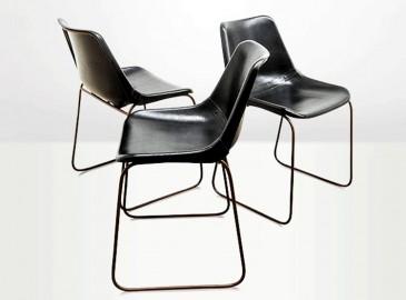 Chaise Godard noire