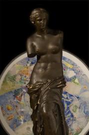 """Statue en plâtre """"Vénus noire"""""""