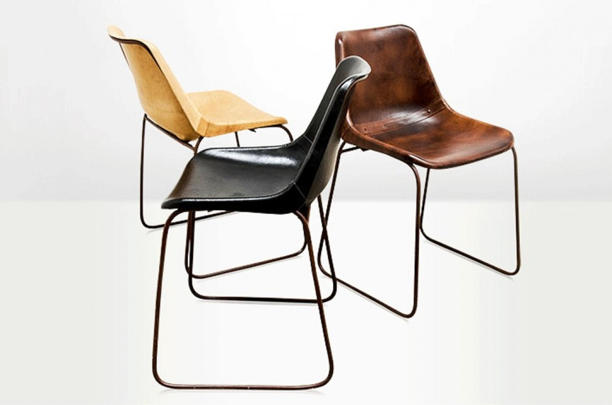 chaise godard cuir naturel arteslonga. Black Bedroom Furniture Sets. Home Design Ideas