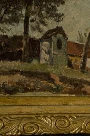 South West landscape, France, oil on canvas