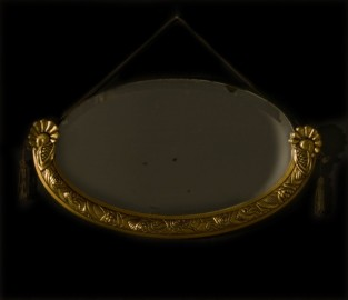 Beveled oval mirror 1930's - SOLD