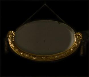 Miroir oval biseauté 1930 - VENDU