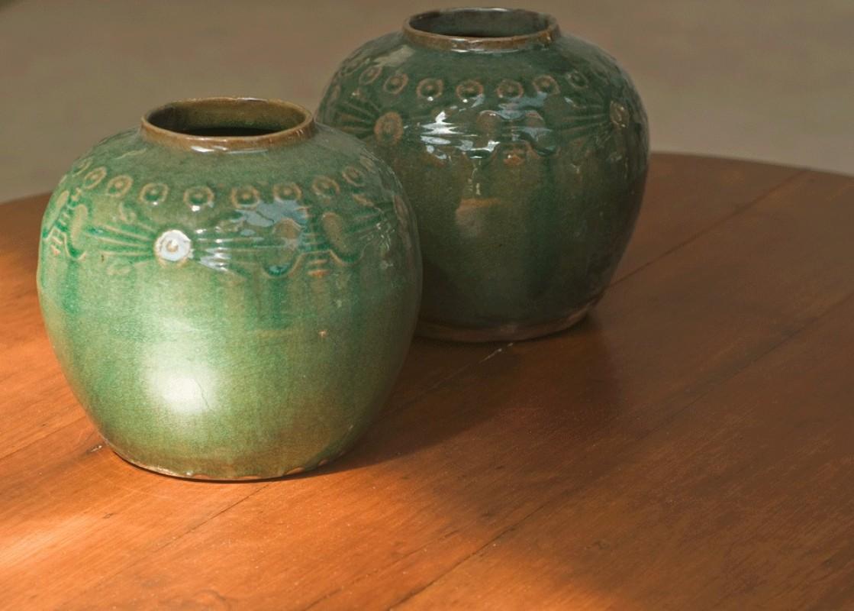Pot pot en terre cuite pot terre cuite terre cuite maill e turquoise motifs - Pot en terre cuite emaillee ...