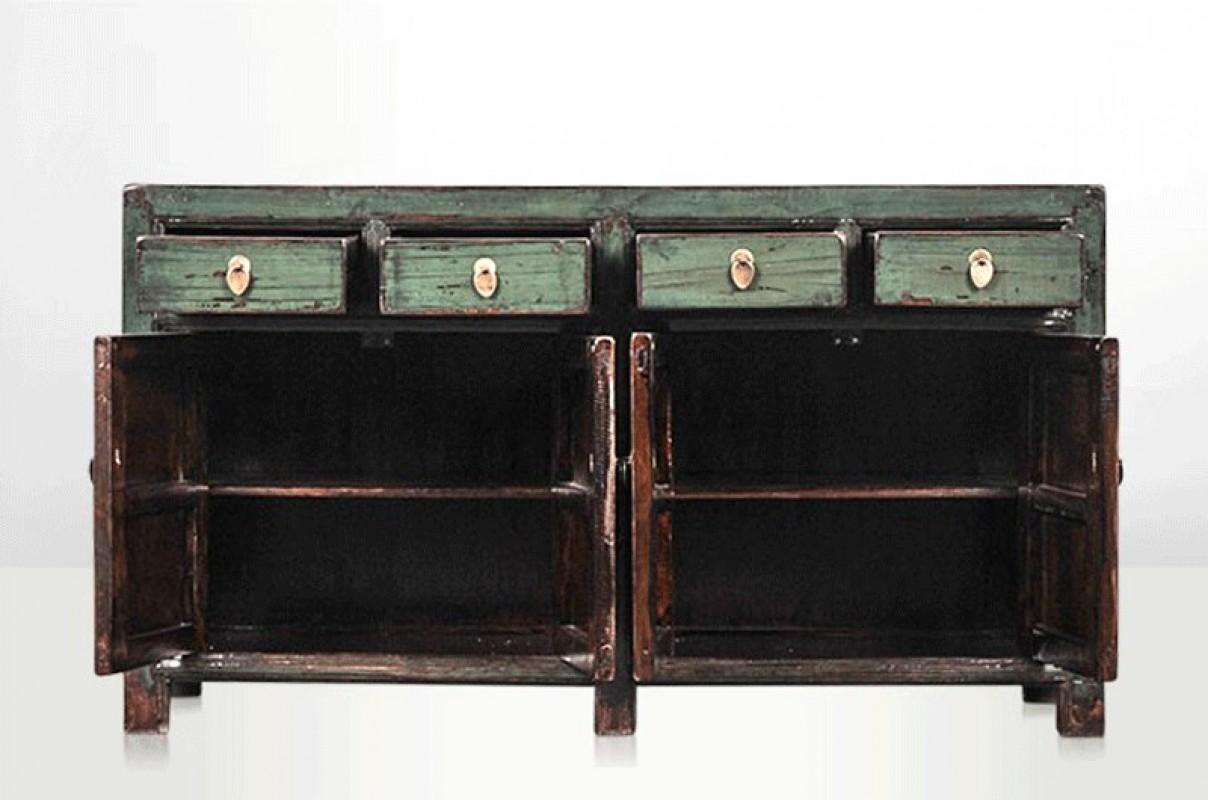 Meuble chinois noir meuble tv led occasion u artzein - Grand buffet meuble ...