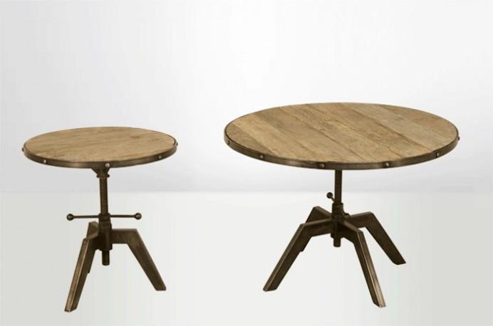 Gu ridon industriel gu ridon style industriel gu ridon vintage gu ridon style vintage - Table ronde style industriel ...