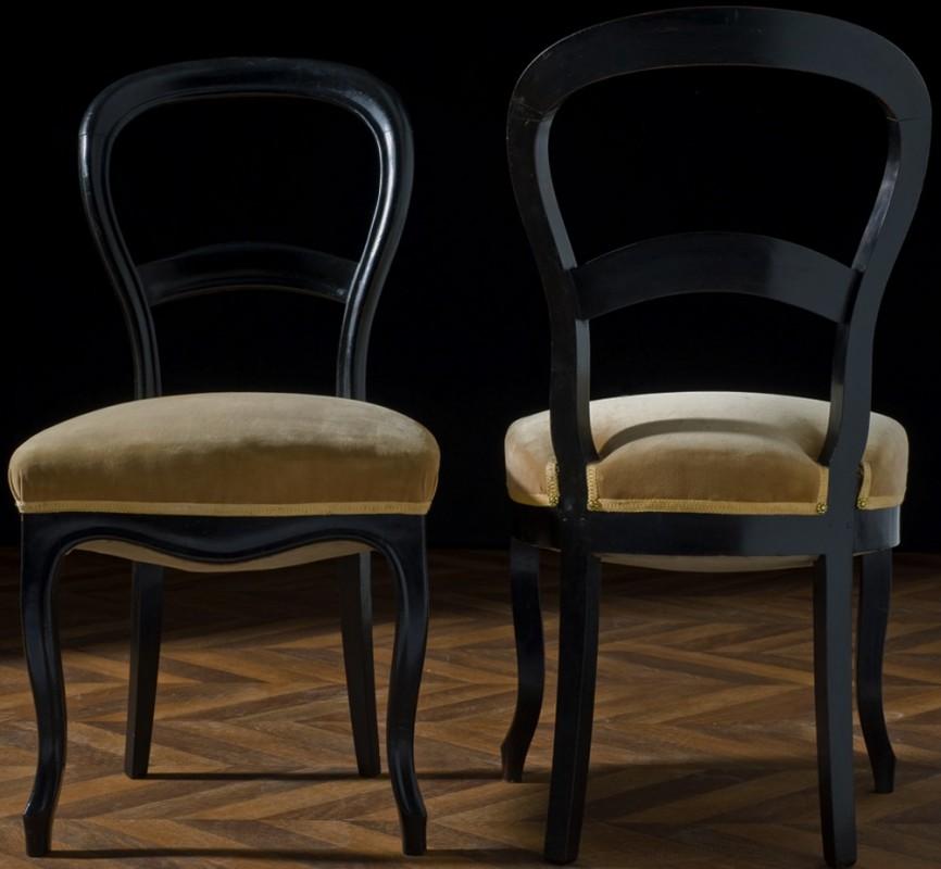 napol on 3 chaises anciennes meuble de style napoleon 3. Black Bedroom Furniture Sets. Home Design Ideas