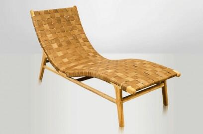 Chaise longue Fjord - cuir