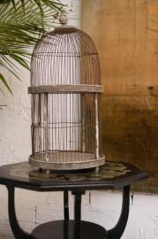 Cage à oiseaux grise