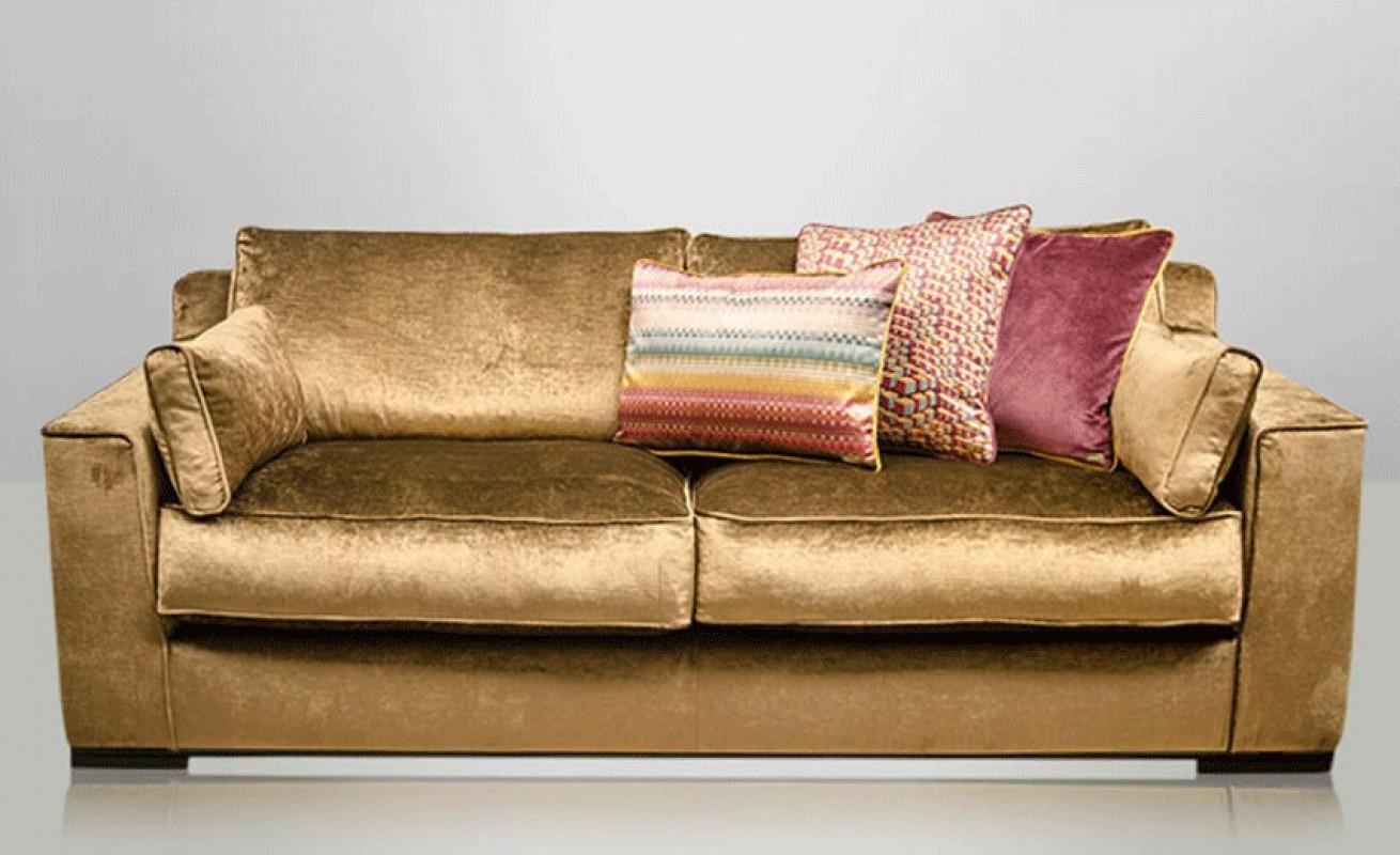 Velvet Brown Sofa Velvet Chamois Sofa Velvet Sofa  ~ Kensington Leather Sofa