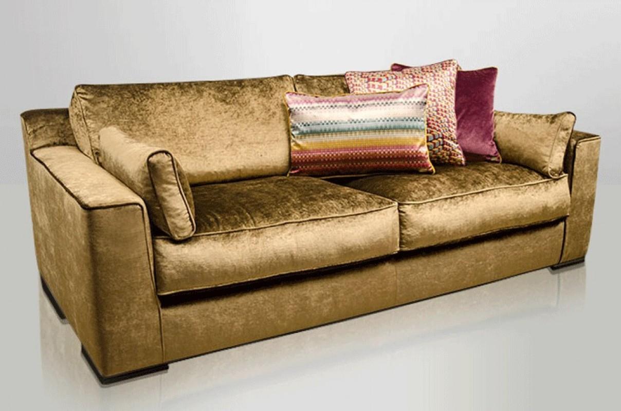 Velvet Brown Sofa Velvet Chamois Sofa Velvet Sofa