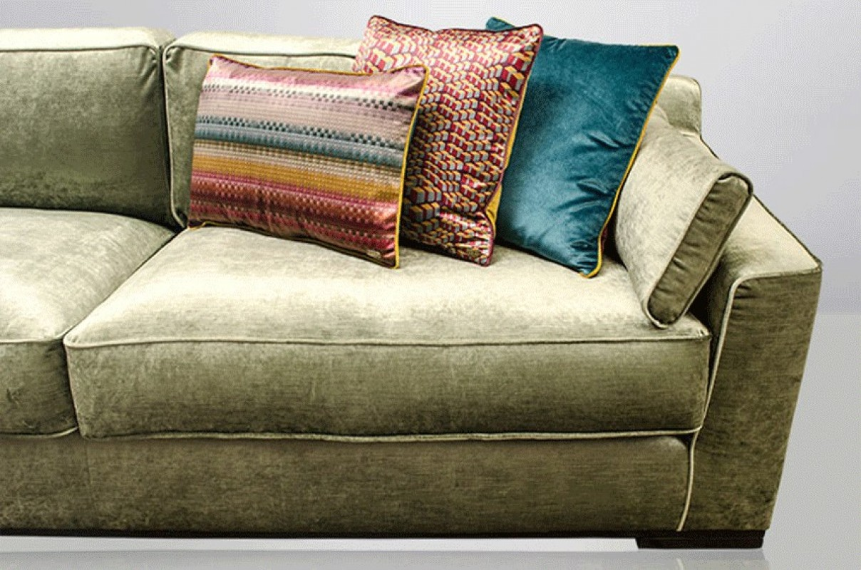 Large velvet sofa velvet sofa green velvet sofa green - Canape chesterfield velour ...