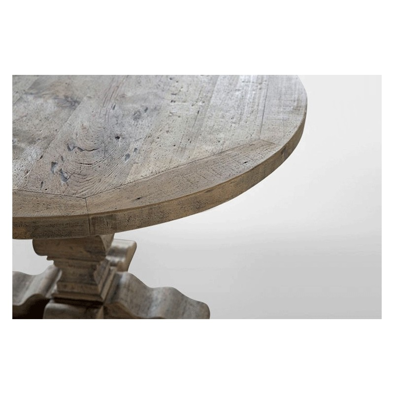 Round wooden table round monastery table round table - Table ronde 120 cm ...