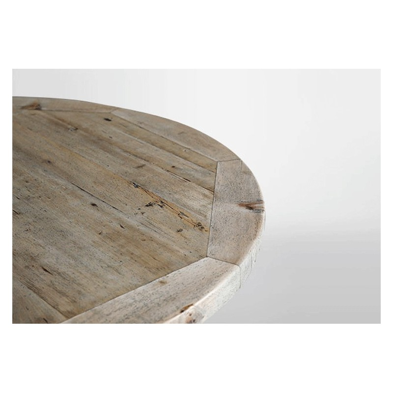 Table ronde en bois table en bois ronde table ronde - Table ronde 120 cm ...