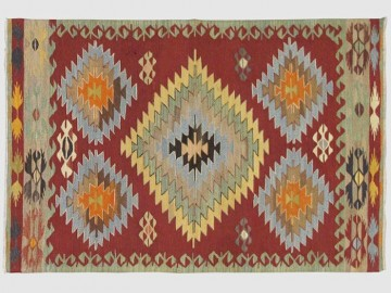 "Tapis Kilim ""Grands Losanges"""
