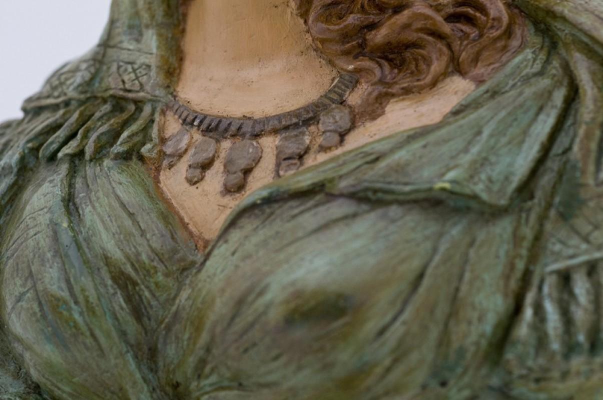 Buste féminin, statue plâtre, ancienne, rétro, 1920, sculpture ...