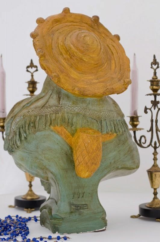 Buste f minin statue pl tre ancienne r tro 1920 for Objet platre deco