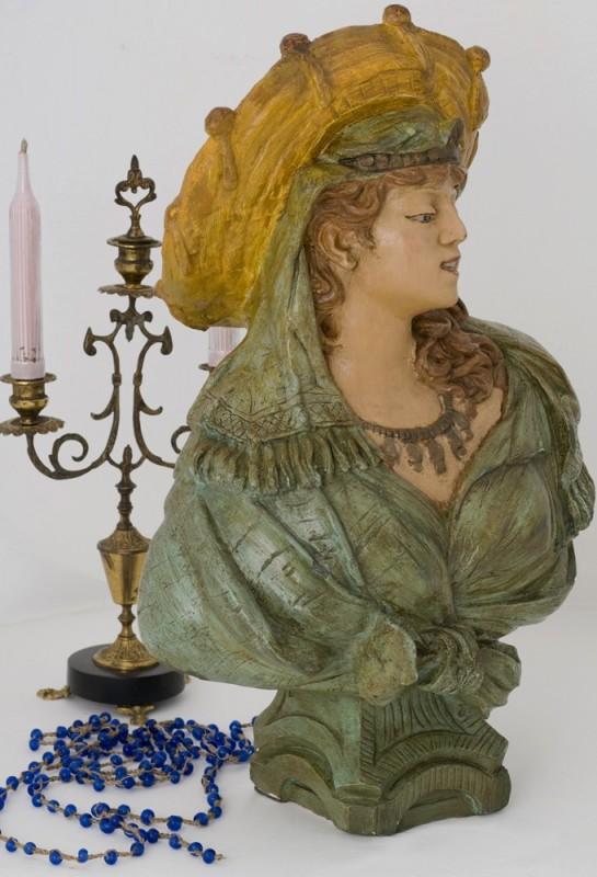 buste f minin statue pl tre ancienne r tro 1920 sculpture ancien objet d 39 art objet d co. Black Bedroom Furniture Sets. Home Design Ideas