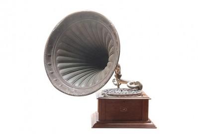 Gramophone Blanc 1900