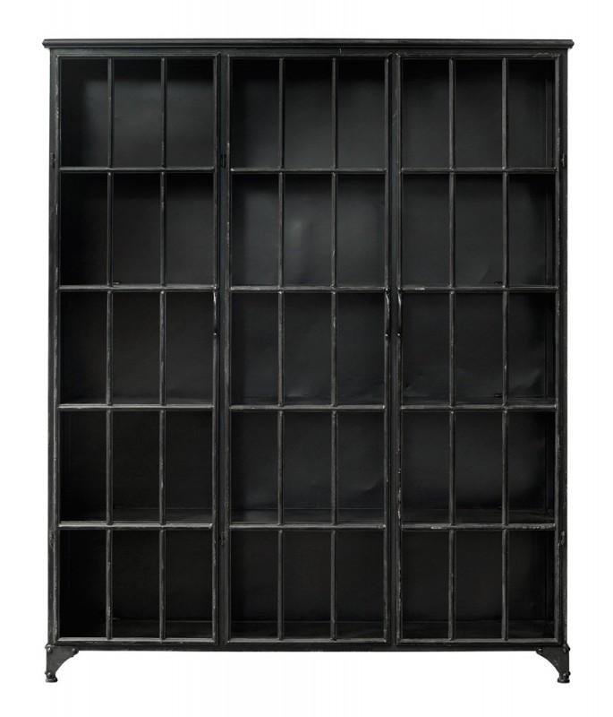 etag re biblioth que ernst noire largeur 150 cm arteslonga. Black Bedroom Furniture Sets. Home Design Ideas