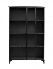 Bibliothèque-Vitrine Ernst noire - H185 cm