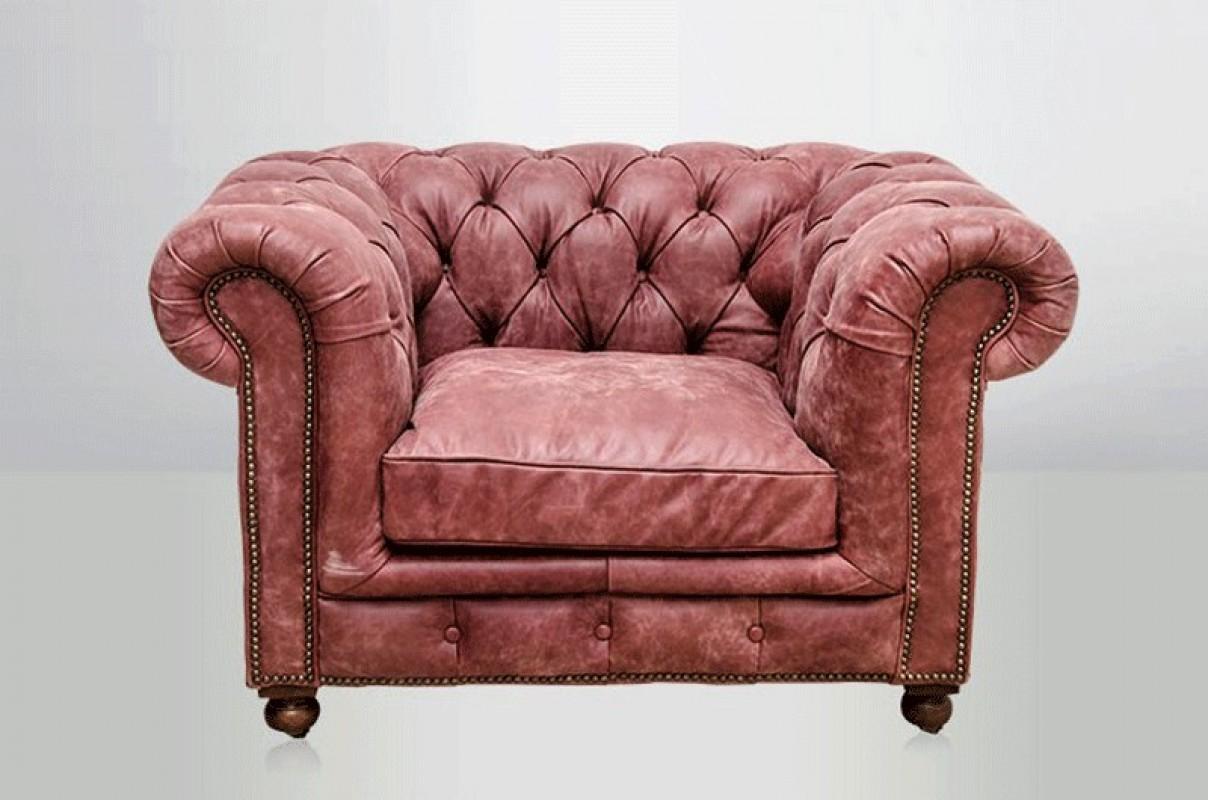 Chesterfield Armchair - Sanguine Pink - ARTESLONGA