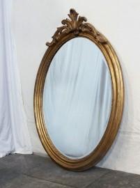 Miroir ovale style Louis XV - H 125cm