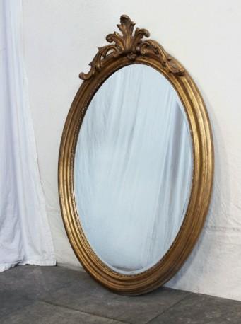 Miroir ovale style Louis XV