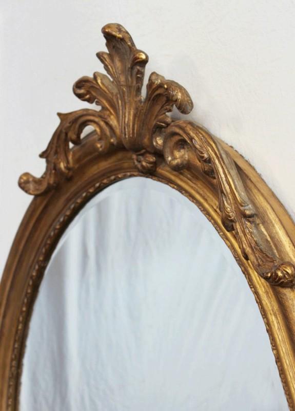 Miroir Ovale Ancien Miroir Ovale Style Ancien Miroir