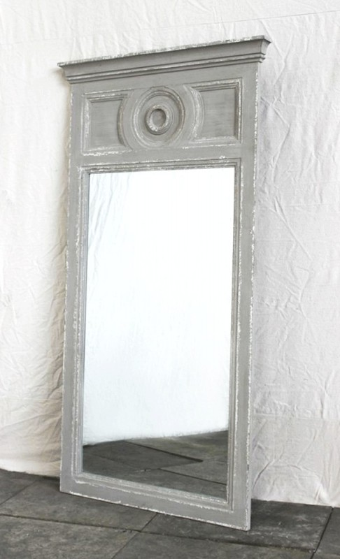 Miroir chemin e miroir shabby chic grand miroir ancien for Miroir maison de famille