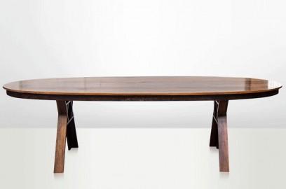 Table Ovale Bornéo Bois de Fer Poli