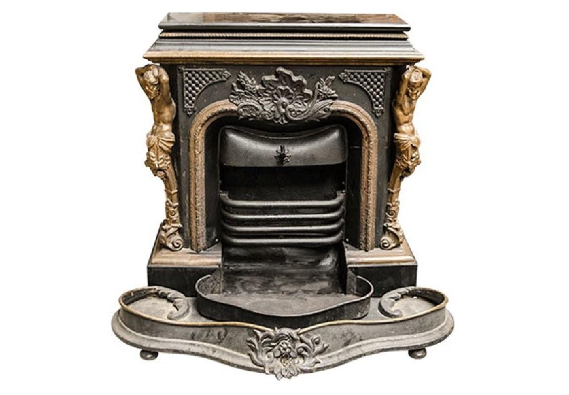 poele en fonte antiquite. Black Bedroom Furniture Sets. Home Design Ideas