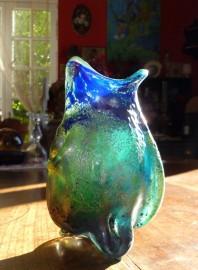 Molten glass vase, Art Nouveau style