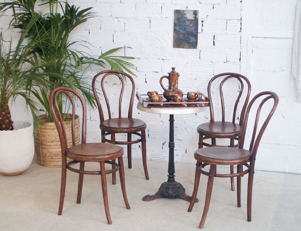 chaises vintage, thonet, luterma, chaise bistro, bistrot