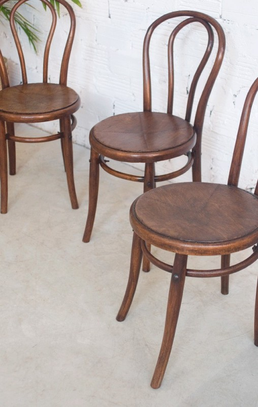 Chaises vintage thonet luterma chaise bistro bistrot for Chaise bistrot thonet