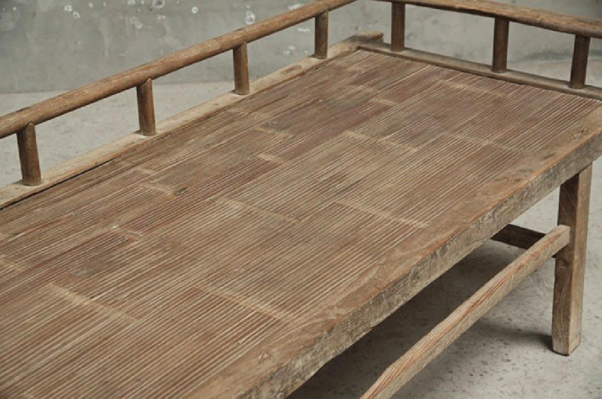 Banquette ancienne banc ancien lit chine vieux for Banquette bambou