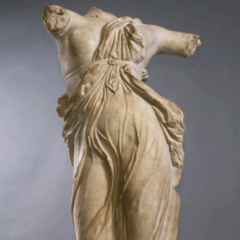 Beautiful Statue Greek Dancer Metal Base 323 21 Bc