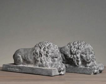 Statues, paire de lions