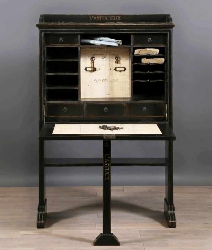 secr taire bureau poque xixeme meuble de caract re. Black Bedroom Furniture Sets. Home Design Ideas