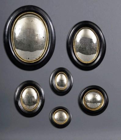 Miroir sorci re miroir de sorci re sorciere sorci res bois noir rond ov - Miroir oeil de sorciere ...