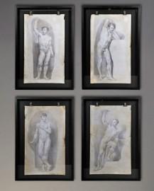 Etudes de nus masculins - Set de 4