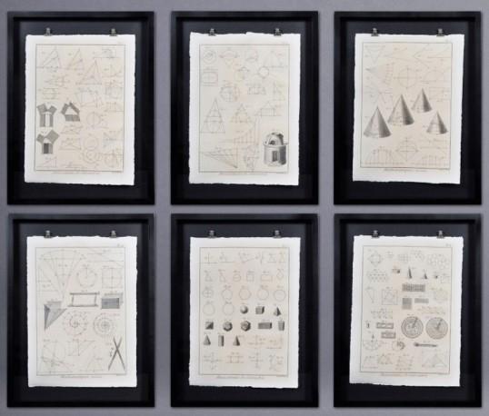 Gravures Géométrie - Set de 6
