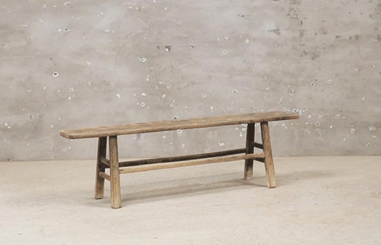 banc de ferme en bois brut ancien arteslonga. Black Bedroom Furniture Sets. Home Design Ideas