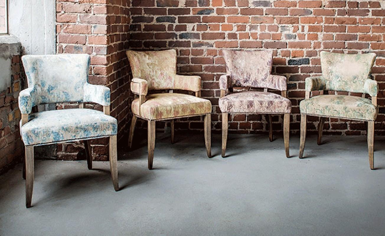 fauteuil bridge fauteuil vintage retro salon velours violet. Black Bedroom Furniture Sets. Home Design Ideas