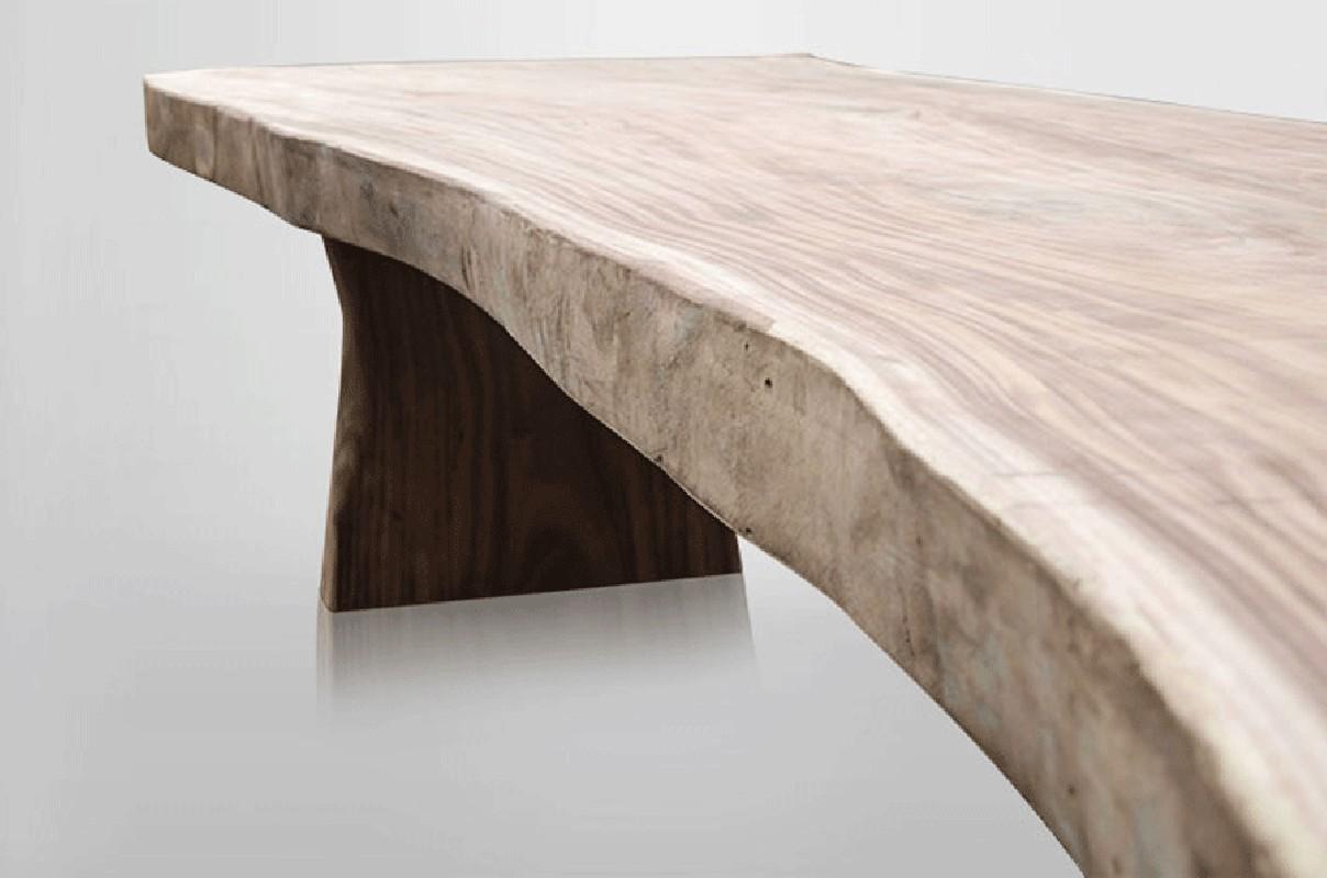 table en bois, table contemporaine, grande table en bois ...
