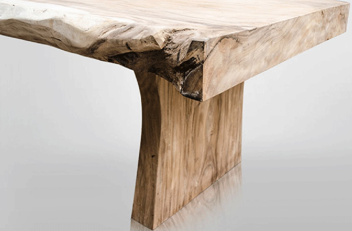 Table en bois table contemporaine grande table en bois for Table de campagne en bois