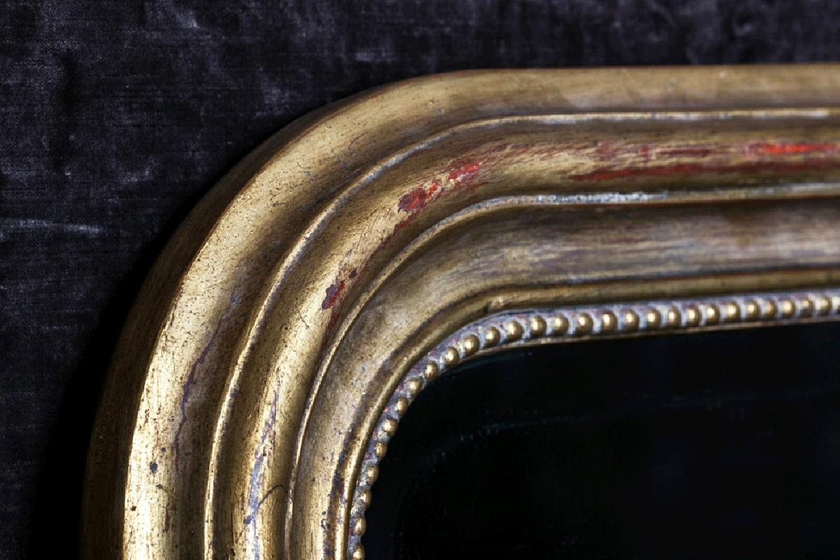 Big mirror napoleon iii style old gold arteslonga for Grand miroir dore