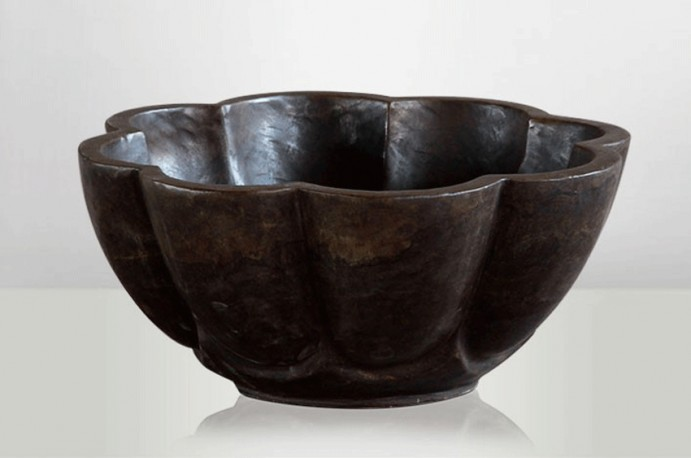 Carved Brown Stone Bowl