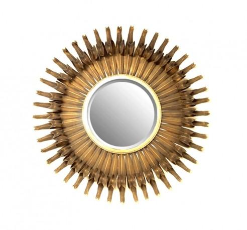 "Miroir ""Soleil Bronze"" - 125 cm"