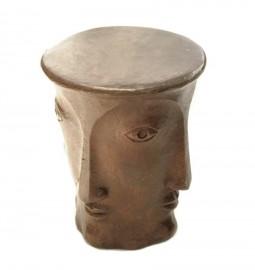 """Tabouret-Socle """"Profils"""" en bronze"""