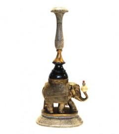 Bougeoir Eléphant - Bronze et Céramique